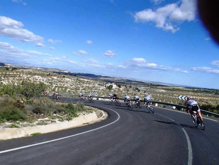 Afdalen van de klim naar Plata